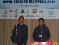 Science Olympiad 2012 Recepients of cash prizes at Russian Culture Center Kamal Pokhari