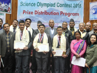 Prize Distribution Ceremony of Science Olympiad Contest 2015